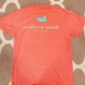 Southern Marsh Classic Logo Coral Tee, M